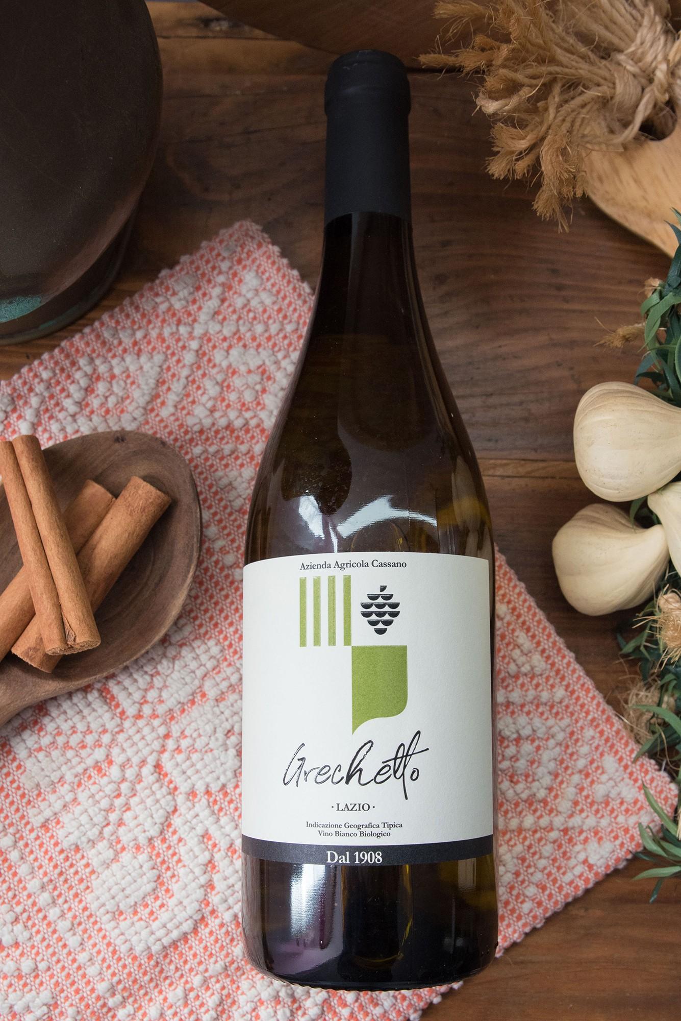 Grechetto Vino Bianco Biologico IGT Lazio- Azienda Agricola Cassano