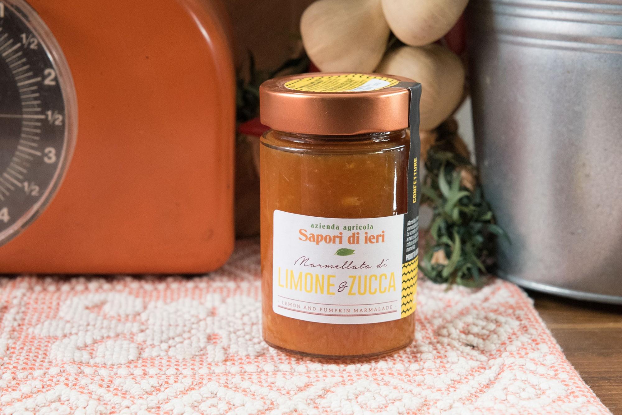 Marmellata Limone e Zucca 210 g - Sapori di Ieri