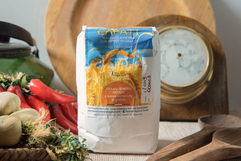 Farina di Grano Tenero Solina con Germe Di Grano - 1kg - Azienda Agricola Capati