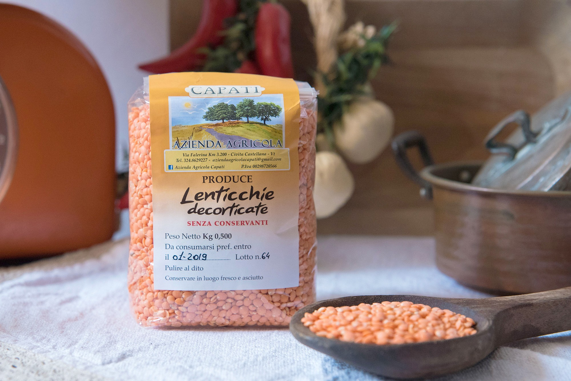 Lenticchie Decorticate - 500gr - Azienda Agricola Capati