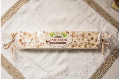 Torrone bianco classico alla nocciola - azienda agricola Bocci - 300 g