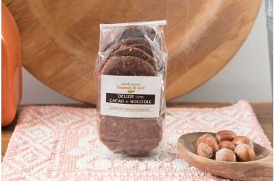 Delizie Nocciole e Cacao amaro 160 g - Sapori di Ieri