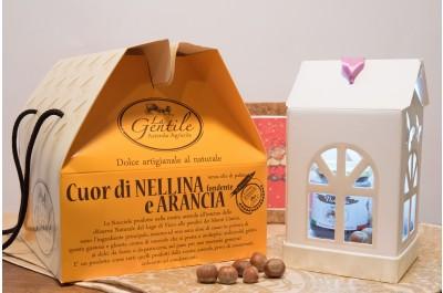 Panettone Cuor di Nellina Fondente e Arancia - Dolce Artigianale al Naturale - Azienda Agricola la Gentile