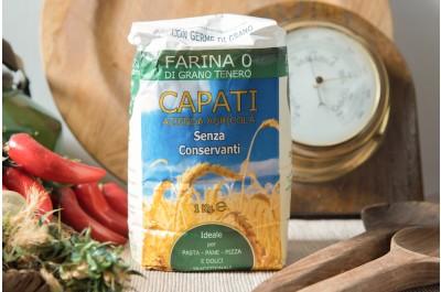 Farina 0 di Grano Tenero con Germe Di Grano - 1kg - Azienda Agricola Capati