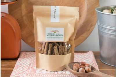 Sfizi nocciole con farina di canapa e pepe 140 g Sapori di Ieri
