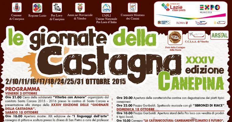 Le Giornate della Castagna a Canepina: dal 2 al 31 Ottobre 2015