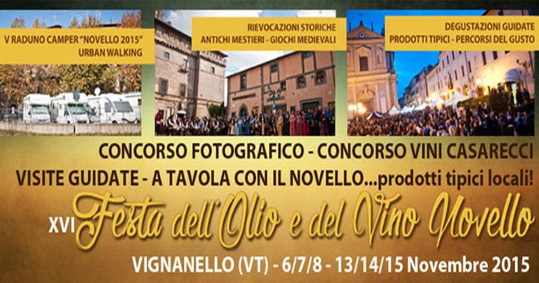 Festa dell' olio e del vino novello - Vignanello 6-15 Novembre