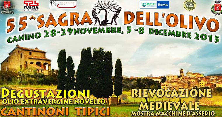 55° Sagra dell'olivo a Canino: 28 e 29 Novembre e 4 e 8 Dicembre