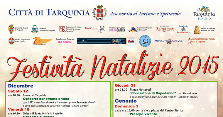 Natale a Tarquinia: 8 Dicembre - 7 Gennaio