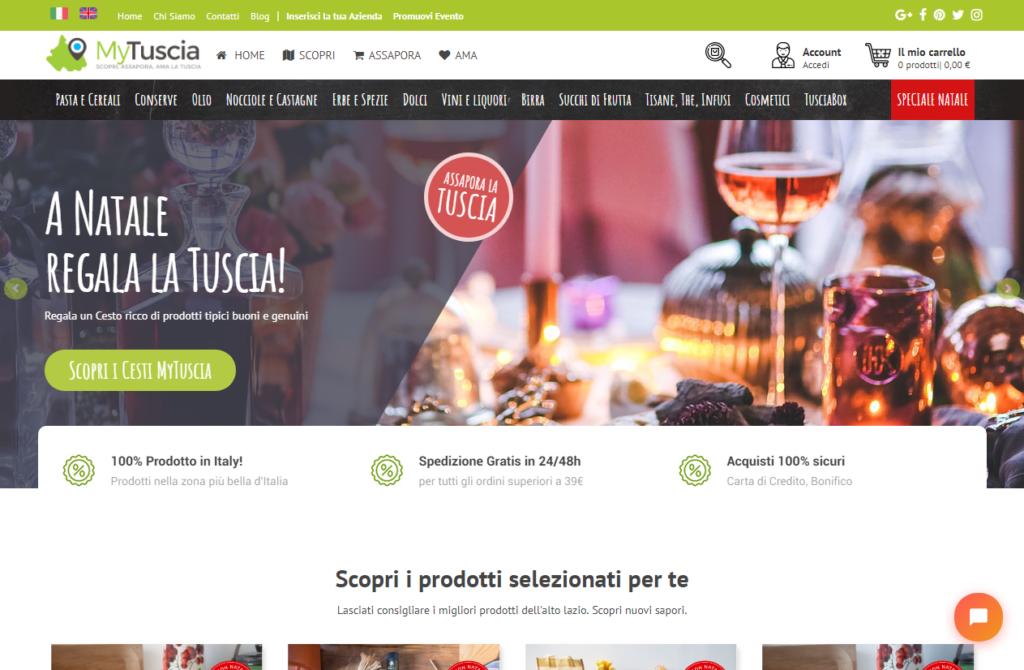 Nasce MyTuscia Shop: tutti i prodotti della tuscia in un click